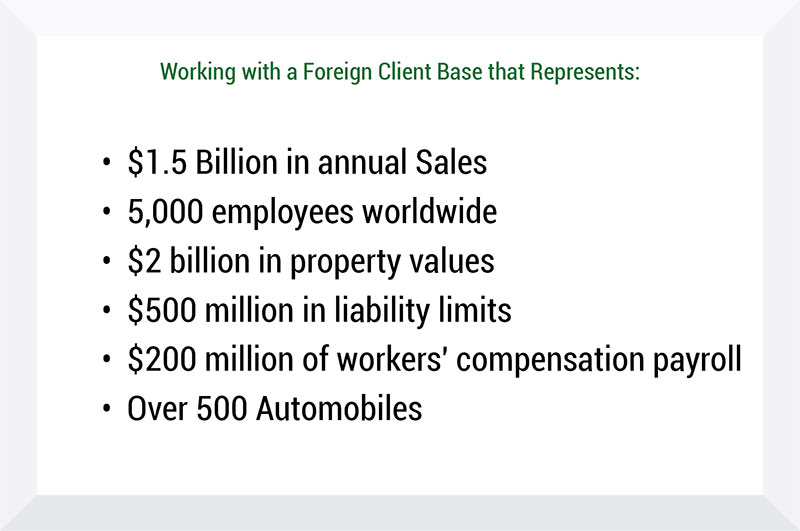 Foreign Client Representation - Insurance Management Company