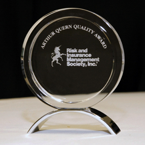 Arthur Queen Quality Award Recipient from the Risk and Insurance Management Society, Inc. - Insurance Management Company (IMC)